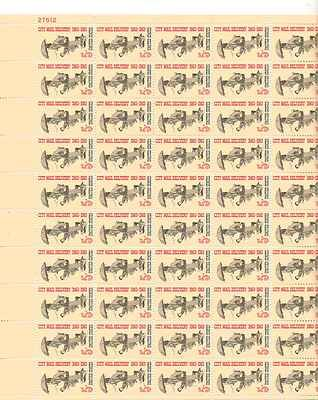 City Mail Delivery Sheet of 50 x 5 Cent US Postage Stamps NEW Scot 1238