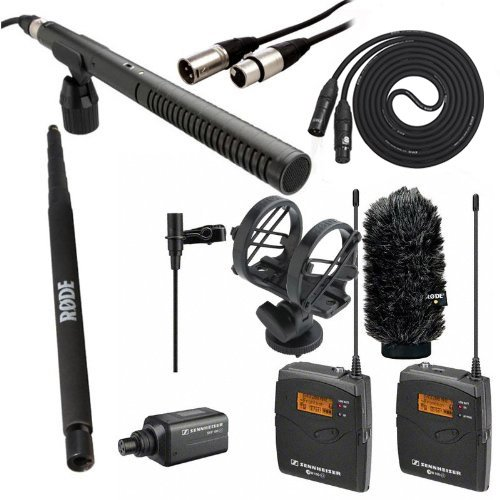 "Sennheiser Wireless Ew 100-Eng G3, Rode Ntg2 Shotgun Mic, Rode Sm3 Shock Mount, Rode Ws6 Wind Shield, Rode Boompole, Comprehensive Xlr To Jack Audio 18"" Cable And Lyx Lcs Xlr Cable"