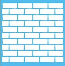 DecoArt Americana Mixed Media Stencil 12 by 12-Inch Brick Wall