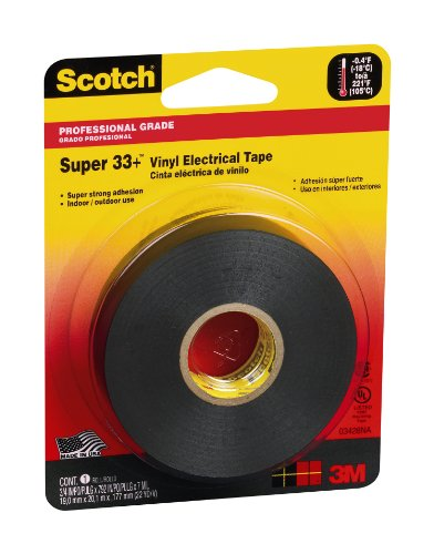 Scotch 03428NA  Super 33+ Electrical Tape, 3/4-Inch by 66-Feet