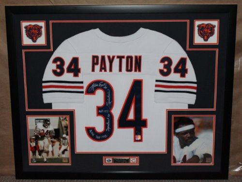 Walter Payton Autographed And Framed White Bears Jersey #'D To 34 Wpf Coa (Free Shipping!!) front-671325