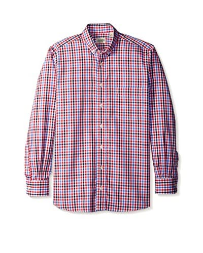 Gitman Blue Men's Gingham Button Down Sport Shirt