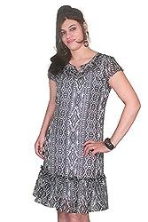 Selfi Women's Dress (JVC03_Black White_38)