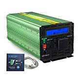 EDECOA 3000 Watts Power Inverter 12V DC to 110V AC with LCD Display and Remote Controller
