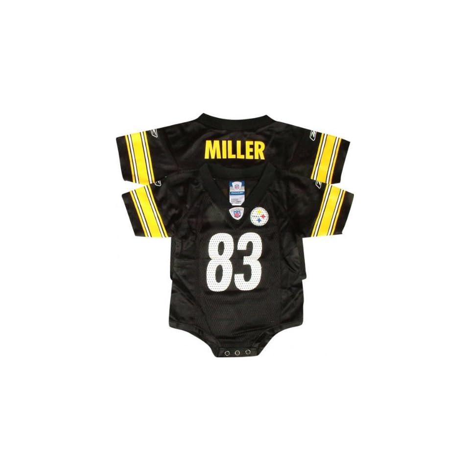 Heath Miller Black Reebok NFL Pittsburgh Steelers Infant Jersey