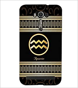 PrintDhaba Zodiac Aquarius D-2687 Back Case Cover for ASUS ZENFONE 2 LASER ZE550KL (Multi-Coloured)