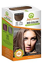 Joybynature - Top selling 100% Organic Hair Color- Dark Brown - 150 gm , Ecocert Certified (No Peroxide, No PPD, No Ammonia)