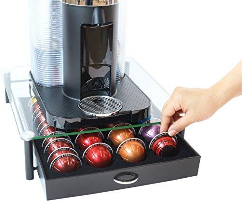 Decobros crystal tempered glass nespresso vertuoline storage drawer holder fo - Nespresso rangement capsules ...