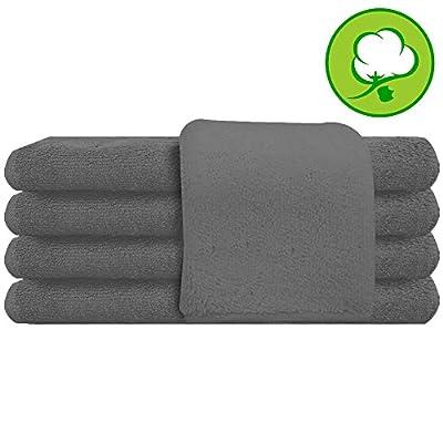 "Gray Salon Towel 100% Cotton 16""x27"". Hand Towel- 1 DOZEN"