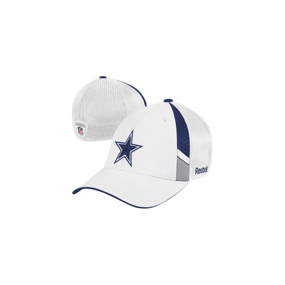 21437176882 Dallas Cowboy Hats Reebok Dallas Cowboy Youth White 2009 Draft Day Flex Fit  Hat