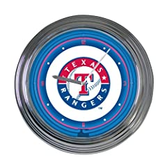 MLB 15 inch Neon Wall Clock by The Memory Company