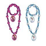 Disney Frozen Girls Charm Necklace and Bracelet Set - Assorted Styles (1 Set)