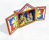 ペルーPeru製カラフルレタブロ/キリストの誕生/馬小屋&フィギア白S