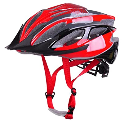 Men and women's Bicycle Bike Cycle Skater Adjustable Safety Crash Helmet Size 54-59cm-Red by HaoJiGuang