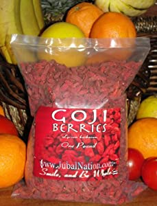 Goji Berries - Organic Goji Berries, Sun-dried, Whole 1 lb from Jubal Wild Harvast
