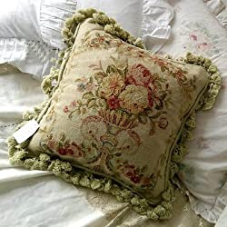Royal Collection Handmade Wool Needlepoint Cushion Cover/ Pillow Sham NP417