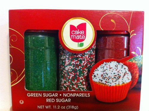 Cake Mate 3 Color Christmas Holiday Sprinkle Mix