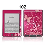 TaylorHe Colourful Decal Vinyl Skin for Amazon Kindle Touch Ultra-slim protection with pretty patterns MADE IN BRITAIN Pink Butterflies