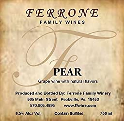 NV Ferrone Family Winery Pear 750 mL