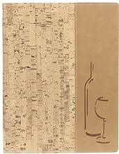 Cork Effect Weinkarte mit zwei A4-Einsätze (8 Seiten).