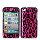 Hot Pink Leopard Hard Snap-on Crystal Skin Case Cover Accessory for Ipod Touch 4th Generation 4g 4 8gb 32gb 64gb