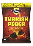 Fazer The Original Tyrkisk Peber (Turkish Pepper) Volcano Finnish Salmiak Liquorice Wine Gums Chewy Gummy Candy Candies Sweets Bag 150g.