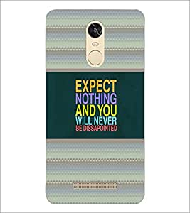 PrintDhaba Quote D-4788 Back Case Cover for XIAOMI REDMI NOTE 3 MEDIATEK (Multi-Coloured)
