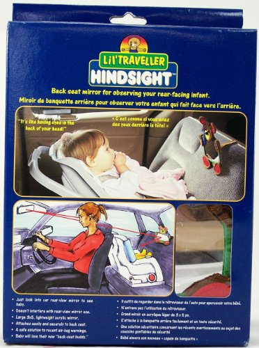 LilTraveller Hindsight Back Seat Mirror for Rear-facing Child/Infant - 1