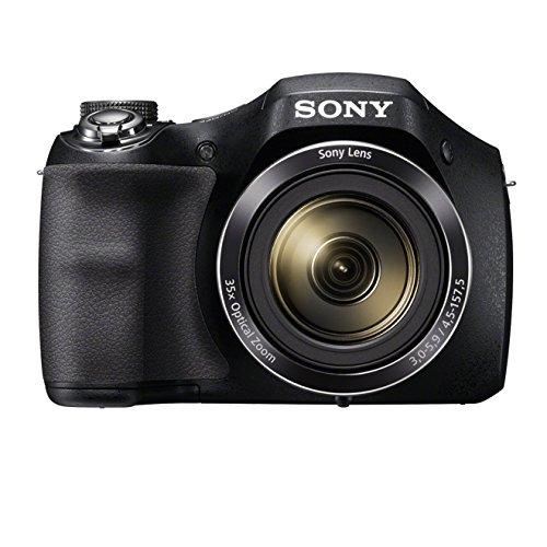 Sony-Einstiegsbridge-DSC-H300-201-MP-CCD-Sensor-effektiv-35x-optischer-Zoom-25mm-Weitwinkel-Objektiv-Optischer-Bildstabilisator-SteadyShotHD-schwarz