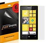 SUPERSHIELDZ- High Definition (HD) Clear Screen Protector Shield For Nokia Lumia 520 (AT&T) + Lifetime Replacements Warranty [6-PACK] - Retail Packaging