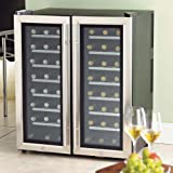 Silent 48 Bottle Dual Zone Thermoelectric Wine Refrigerator