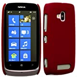 Cellbig Introduces Red Plain Tough & Defender Hard Hybrid Shockproof Back Case Cover Pouch Shell Holster For Your Nokia Lumia 610