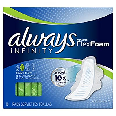 Always Infinity Pads with Wings, Extra Heavy Overnight