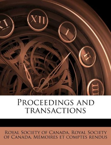 Proceedings and transactions