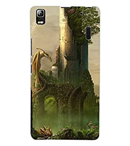 ColourCraft Dragon Design Back Case Cover for LENOVO A7000 PLUS