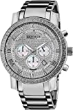 Akribos XXIV Mens AK439SS Grandiose Diamond Quartz Chronograph Silver Dial Watch