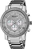 Akribos XXIV Men's AK439SS Grandiose Diamond Quartz Chronograph Silver Dial Watch