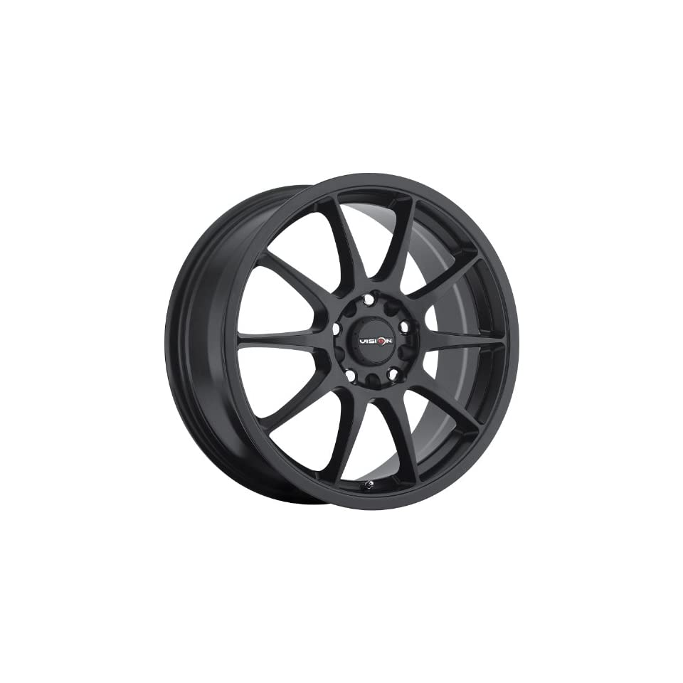 Vision Venom 15 Black Wheel / Rim 5x100 & 5x4.5 with a 38mm Offset and a 73.1 Hub Bore. Partnumber 425 5618MB38