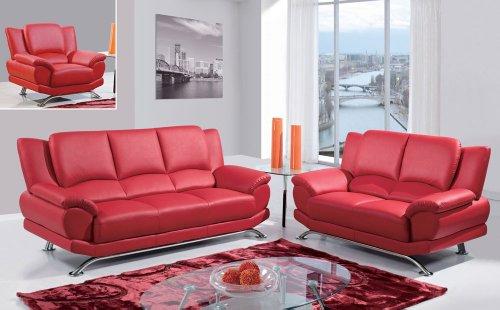 Global U5200 2 Piece Living Room Set In Black Leather | New ...