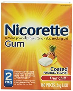 Nicorette Coated Gum, Fruit Chill, 2 mg, 160-Count