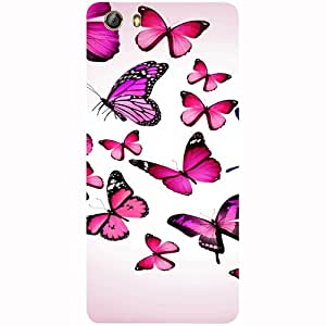 Casotec Flying Butterfly Colorful Design 3D Printed Hard Back Case Cover for Gionee Marathon M5 lite