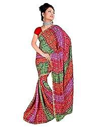 SB Creations Women's Bandhani Saree (SB_131_Multi)
