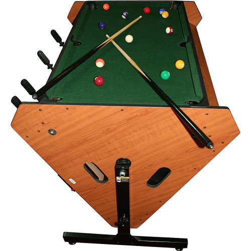 Trademark 3-in-1 Rotating Table Game (Billiards, Air Hockey, and Foosball)