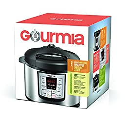 Gourmia GP-600 Smartpot 8-in-1 Programmable MultiFunction Pressure Cooker Steamer Slow Cooker Cooking Pot, Stainless Steel, 6 quart, 1000W, Silver