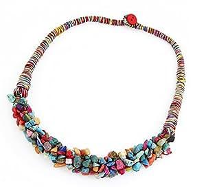 Amazon.com: Boda Noche Collar Llamativo Cadena Encantos Necklace
