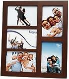 Multi Aperture Solid Wood Gallery Photo Frame (Dark Walnut, 5 aperture 4x6ins)