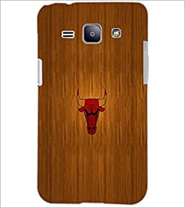 PrintDhaba Bull D-2038 Back Case Cover for SAMSUNG GALAXY J1 (Multi-Coloured)