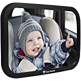 Cozy Greens® Back Seat Mirror | CRASH TESTED AND CERTIFIED Backseat Mirror | *FREE BONUSES*: eBook on Traveling with Kids and Cleaning Cloth | Luxury Gift Box | Lifetime Satisfaction Guarantee!