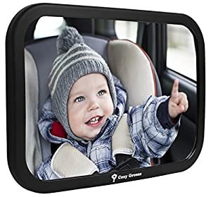24 HOUR SALE | Cozy Greens® Back Seat Mirror | EXTRA DURABLE, EXTRA CLEAR Backseat Mirror | *TWO FREE BONUSES*: eBook on Traveling with Kids and Specialized Cleaning Cloth | CHARITY-APPROVED | LUXURY GIFT BOX | Lightweight non-toxic Material | Safe & Secure Mounting | Crystal Clear 360° view | Pivot attachment for every desired Angle | Fits Most Cars | Lifetime Satisfaction Guarantee! | Super Spring Sale - 45% OFF Today