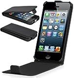 Perfect Case ® Stil Better PREMIUM QUALITY genuine leather Flip Case for Apple iPhone 5 & 5s - Black